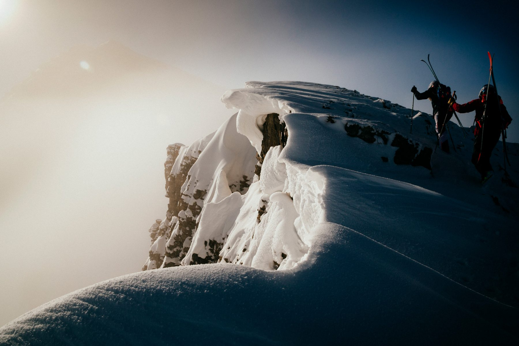 Mountain Climbing in the Snow